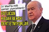 Devlet Bahçeli; HDP ile ittifak kurup, PKK'nın tutsağı yapmaya heveslenenler