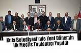 Kula Belediyesi'nde Yeni Dönemin İlk Meclis Toplantısı Yapıldı