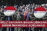"""MSB'den """"Anıtkabir'de İmamoğlu' açıklaması"""