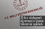 20 bin sözleşmeli öğretmenin atama duyurusu