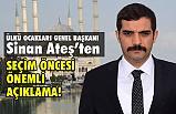 Ülkü Ocakları Genel Başkanı Ateş, İstanbul Seçimi Öncesi Açıklama Yaptı
