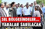 Başkan Demir, Salıpazarı ve Terme'de SEL bölgesinde