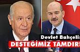 MHP lideri Devlet Bahçeli, Bakan Soylu'yu Tebrik Etti