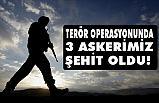 Terör operasyonunda 3 askerimiz şehit oldu