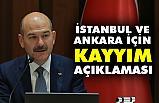 İçişleri Bakanı Soylu'dan, İstanbul ve Ankara İçin Kayyım Açıklaması