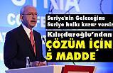 Kılıçdaroğlu, Uluslararası Suriye Konferansında Konuştu
