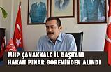 MHP Çanakkale il başkanımız Hakan Pınar Görevinden Alındı