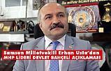 Erhan Usta'dan Devlet Bahçeli Mesajı