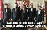 Ülkü Ocakları'ndan Canik Belediyesi ve Samsun Üniversitesi'ne Ziyaret