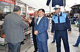 Havza Belediyesi Pazarda Esnafa Çöp Poşeti Dağıttı