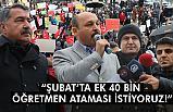 Türk Eğitim-Sen'den 40 bin Öğretmen Ataması Talebi