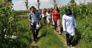 40 peyzaj mimari öğrencisi Samsun'un Bafra ilçesinde buluştu.