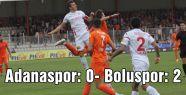 Adanaspor, sahasında Boluspor'a 2-0 yenildi