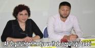 AF Örgütü'nden medya ve ifade özgürlüğü talebi
