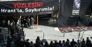 Agos önünde Hrant Dink için toplandılar