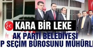 AKP'li belediye Rize'de  MHP seçim bürosunu mühürledi