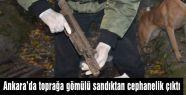 Ankara'da toprağa gömülü cephanelik...
