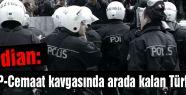 Arada kalan Türk polisi...
