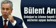 Arınç: Erdoğan'ın izleme heyeti ile ilgili sözlerini uygun bulmadığını söyledi