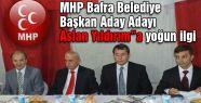Bafra'da MHP'li Adaya Yoğun İlgi...