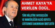 Bahçeli'den Ahmet Kaya Tepkisi!