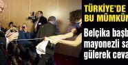 Belçika başbakanına, mayonezli saldırı olunca