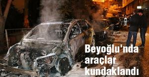 Beyoğlu'nda park halindeki araçlar kundaklandı