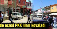 Bingöl'de vatandaş PKK'yı kovaladı