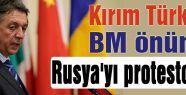 BM önünde Rusya protesto edildi