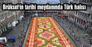 Brüksel'in tarihi meydanında Türk halısı