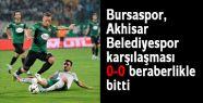 Bursa'da golsüz eşitlik