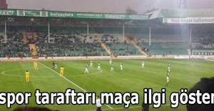 Bursaspor taraftarı maça ilgi göstermedi