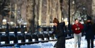 Central Park'ta kar keyfi...