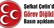 Çetin'den İstanbul MHP'yle ilgili basın açıklaması