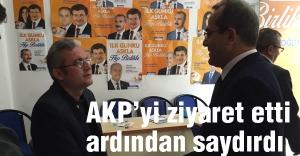 CHP'li Sevinç AKP'yi ziyaret etti  'AKP'li siyasetçilere karşıyım' dedi