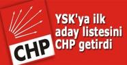CHP YSK'ya aday listesini teslim etti