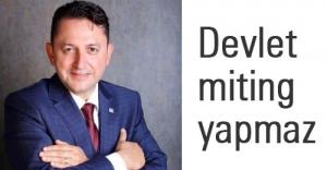 CHP'li Çerçi: Devlet miting yapmaz...