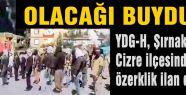Cizre'de özerklik ilan edildi