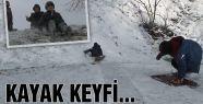Çocukların kayak keyfi...