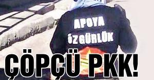 Çöpçü PKK'lıların çevreci halleri