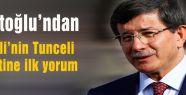 Davutoğlu Bahçeli'nin Tunceli ziyaretine yorum yaptı