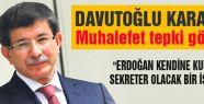 Davutoğlu kararına muhalefetten tepki gösterdi