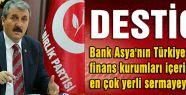 Destici, Bank Asya: Türkiye için katma değer üretiyor