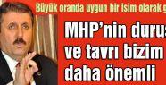 Destici: MHP'nin duruşu ve tavrı bizim için daha önemli