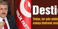 Destici: Türkiye, her şube müdürünü arabaya bindirmek zorunda mıdır?