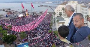 Dingil, Kılıçdaroğlu'nun mitingini tepeden izledi