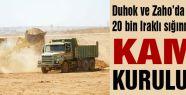 Duhok ve Zaho'da 20 bin sığınmacıya kamp