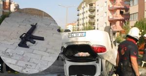 Dur ihtarına uymayan araçtan uzun namlulu silah çıktı