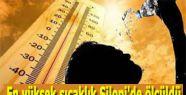 En yüksek sıcaklık Silopi'de ölçüldü