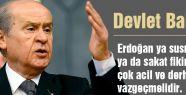 'Erdoğan ya susmalı ya da sakat fikirlerinden vazgeçmelidir'